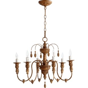 Antique bronze chandeliers youll love wayfair paladino 6 light candle style chandelier aloadofball Choice Image