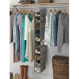 Best Reviews 10 Pair Hanging Shoe Organizer By Rebrilliant