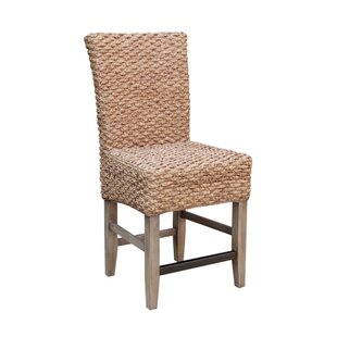 Nyi Seagrass Counter Dining Chair (Set of 2) Bayou Breeze