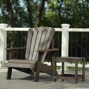 Plastic Adirondack Chair with Table