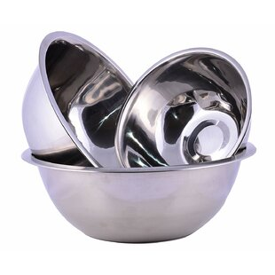 Burse Kitchen 3 Piece Stainless Steel Mixing Bowl Set