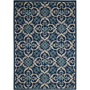 Online Reviews Groveland Navy Indoor/Outdoor Area Rug By Alcott Hill