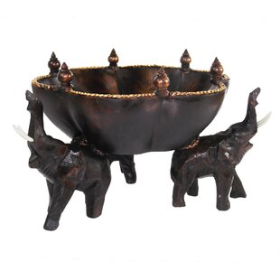 Seliga Solid Wood Abstract Decorative Bowl in Brown