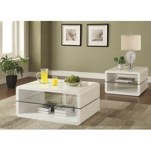 Albano 2 Piece Coffee Table Set Latitude Run