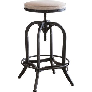 emily adjustable height swivel bar stool