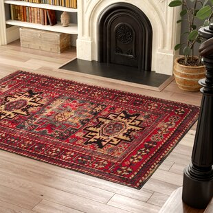 Best Parthenia Red Area Rug By Bloomsbury Market