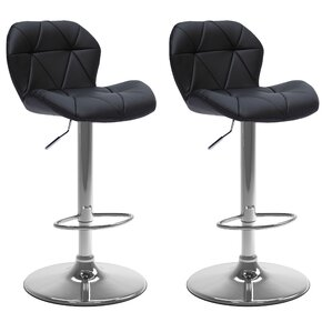Desiree Adjustable Height Swivel Bar Stool (Set of 2)  sc 1 st  Wayfair & Leather Modern u0026 Contemporary Bar Stools Youu0027ll Love | Wayfair islam-shia.org