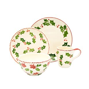 16 Piece Dinnerware Set, Service For 4 by The Holiday Aisle #2