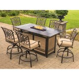 Carleton 7 Piece Dining Bar Height Dining Set with Cushions