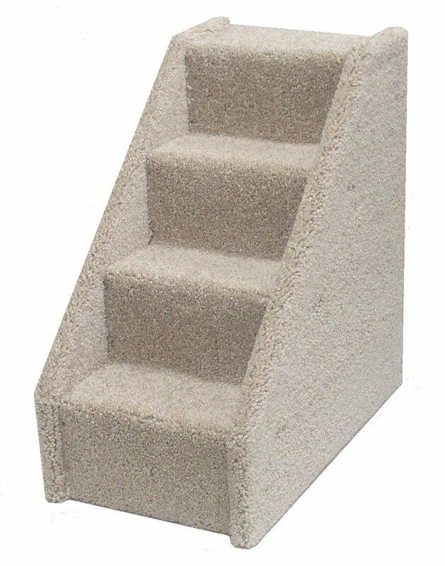Bearu0027s Stairs™ Mini Carpeted 4 Step Pet Stair