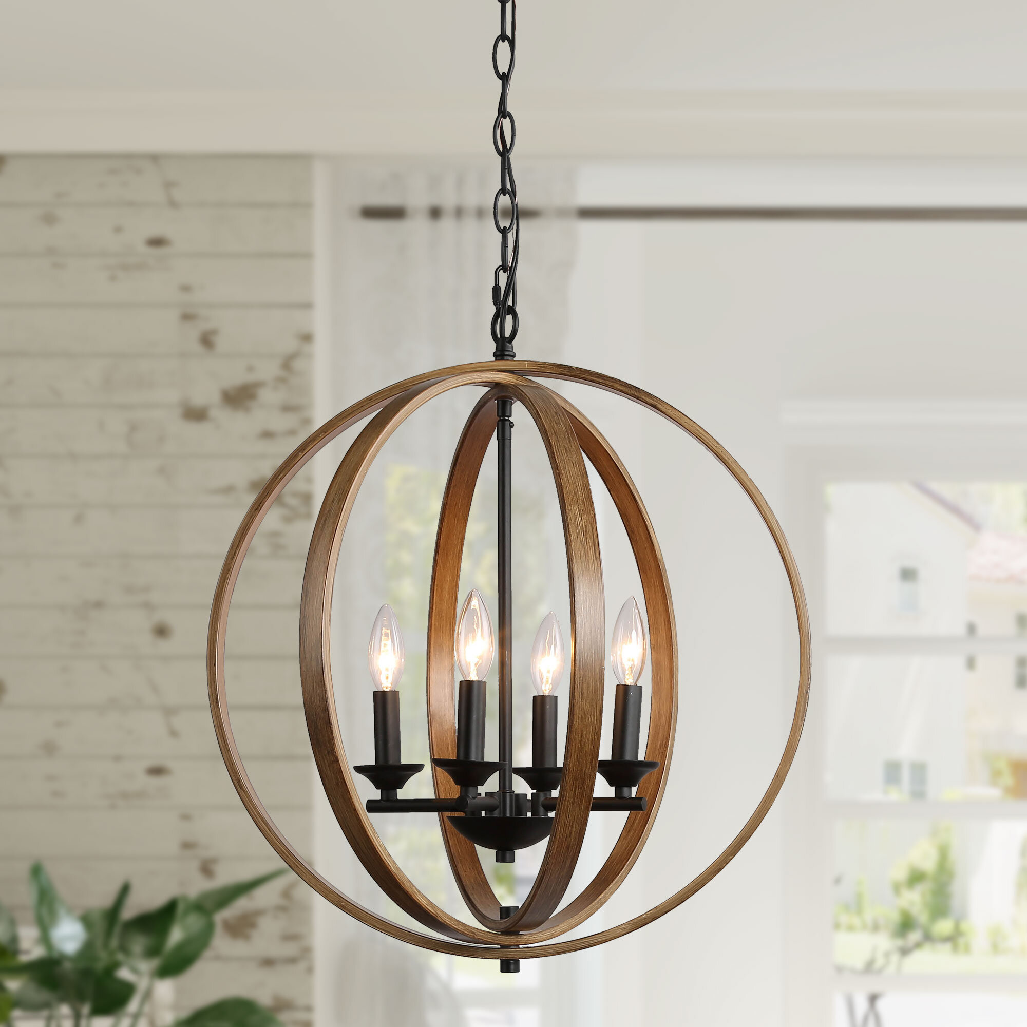 Gracie Oaks Motter 4 Light Candle Style Globe Chandelier Reviews Wayfair