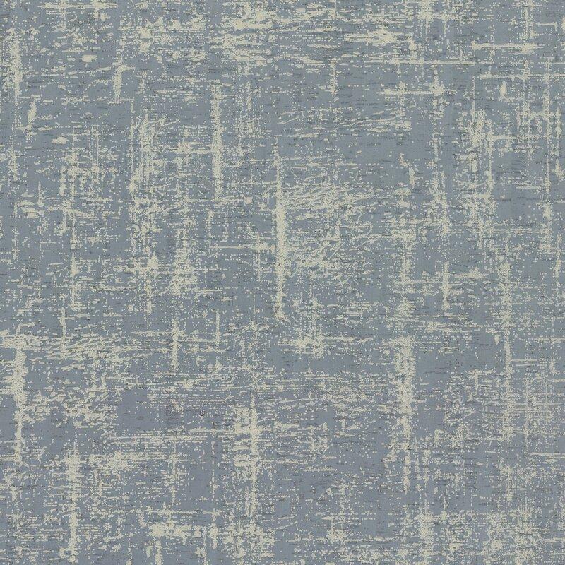 """17 Stories Liesl 27 L x 27"""" W Wallpaper Roll  Color: Blues"""