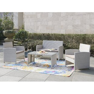 Rietta 4 Piece Sofa Set with Cushions By Beachcrest Home