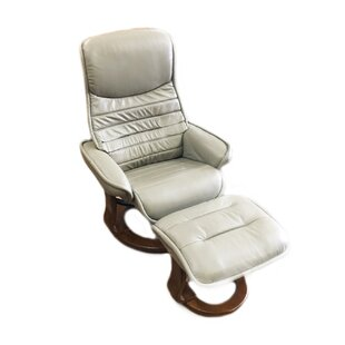 Price comparison Veo Leather Manual Swivel Recliner with Ottoman by World Source Design Reviews (2019) & Buyer's Guide