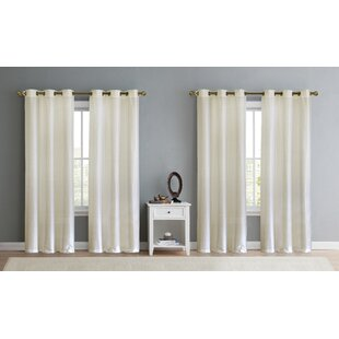 Neubauer Solid Room Sheer Curtain Panels (Set of 2) by Red Barrel Studio