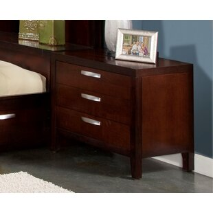 Vista 3 Drawer Nightstand by Fairfax Home Collections