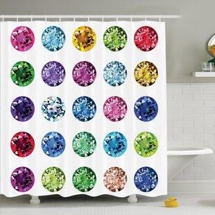 Buy clear Bright Gems Bridal Shower Curtain Set ByAmbesonne