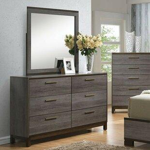 Melra 6 Drawer Double Dresser With Mirror by Brayden Studio Best