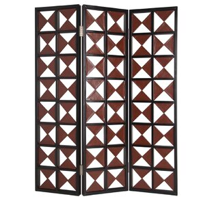Odenton Faux-Leather 3 Panel Room Divider by Red Barrel Studio