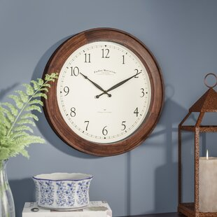 fresh idea whimsical clocks. Lebouef 16  Round Wooden Wall Clock White Clocks You ll Love Wayfair