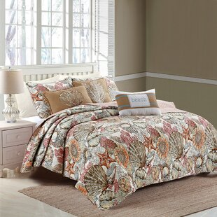 Carreno Brushed Reversible Quilt Set by Highland Dunes No Copoun