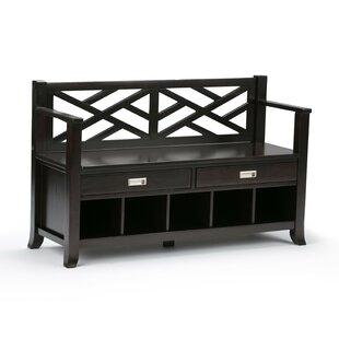 Sea Mills Entryway Wood Storage Bench by Simpli Home