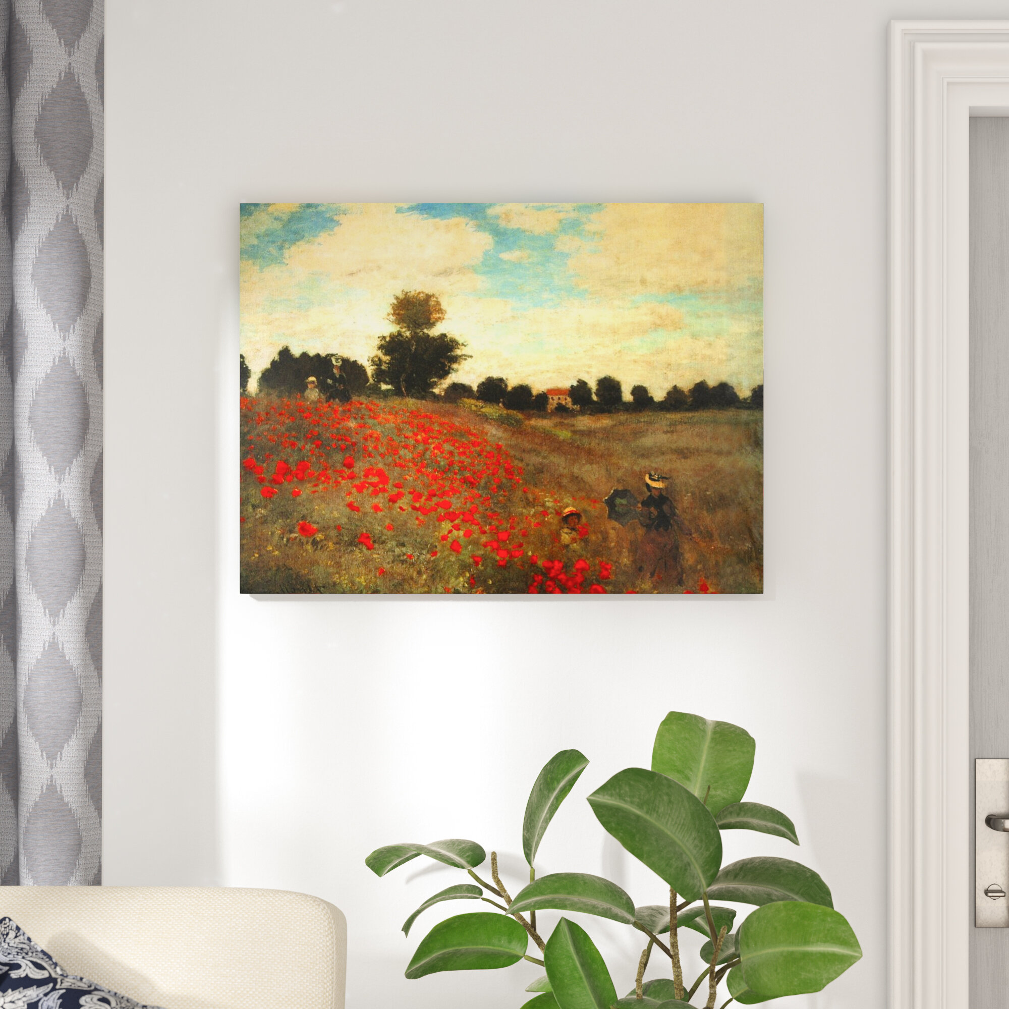 Vault W Artwork Poppies By Claude Monet Painting Wrapped Canvas Print Reviews Wayfair