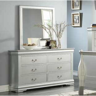 Margaret 6 Drawer Double Dresser with Mirror