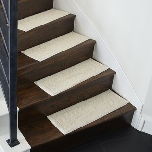 Jeanette Accent Rug Natural White Stair Tread Set Of 4