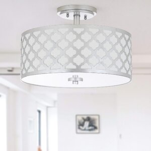 Maynard 3-Light LED Integrated Semi Flush Mount