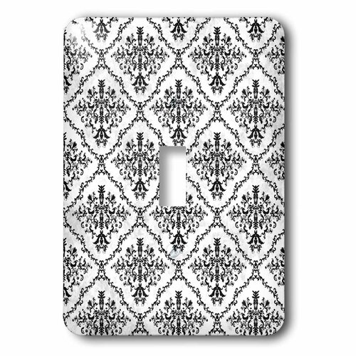 Single Toggle Damask Nursery Wall Decor Grey Damask Single Toggle Switch Plate Gray Damask Light Switch Plate Covers