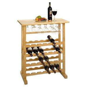 Basics 24 Bottle Floor Wine Bottle Rack by Winsome
