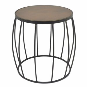 Allentown Metal Wood End Table by Winston Po..