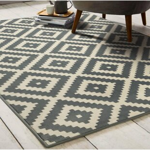Pike Washable Gray Beige Area Rug