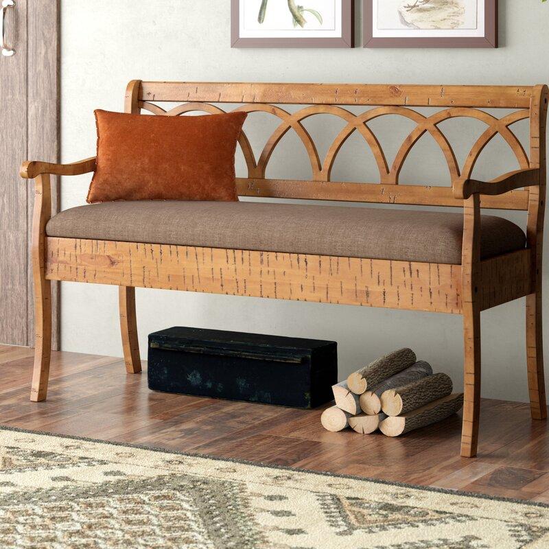Redcloud Wood Storage Bench