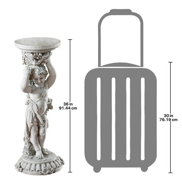 Design Toscano Sous La Vigne Pedestal Plant Stand Reviews Wayfair