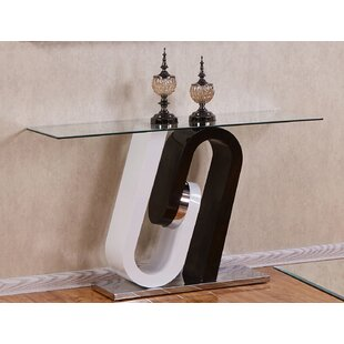 Brook Glass Top Console Table By Orren Ellis