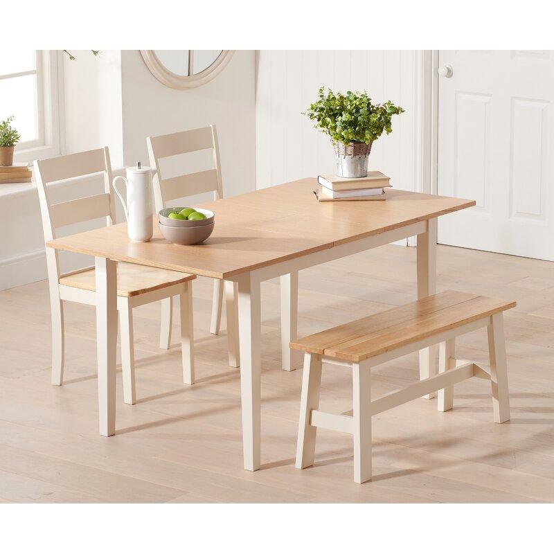 Essgruppe Barstow Mit Ausziehbarem Tisch 4 Stühlen Und 1 Bank