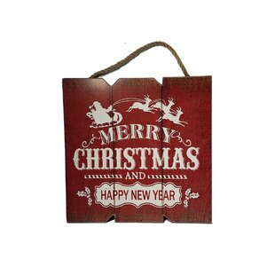 merry christmas happy new year wood sign wall dcor
