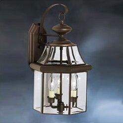 Janette 3-Light Outdoor Wall Lantern