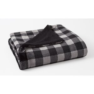 Bretenieres Buffalo Check Plush Reversing to Sherpa Throw
