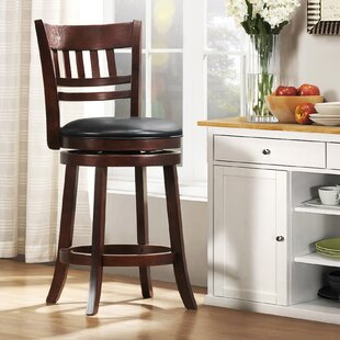 Terranova 24 Swivel Bar Stool Charlton Home