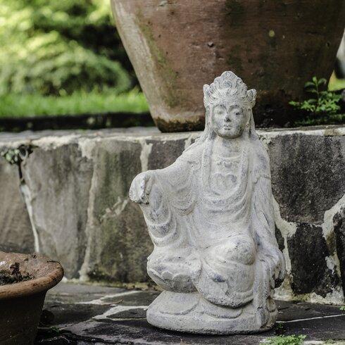 My Spirit Garden Volcanic Ash Imperial Quan Yin Statue | Wayfair