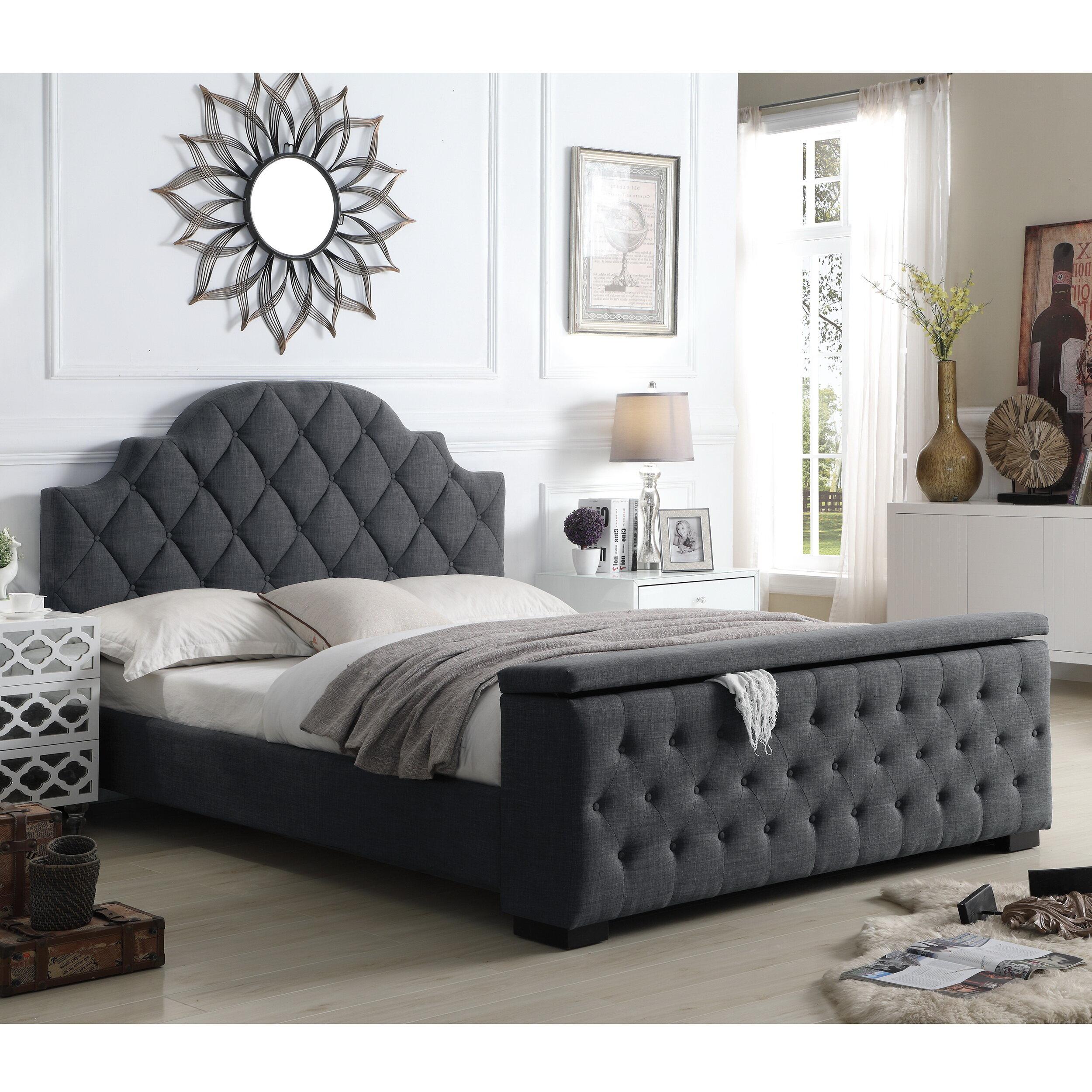 Mistana Thom Tufted Upholstered Storage Standard Bed Reviews