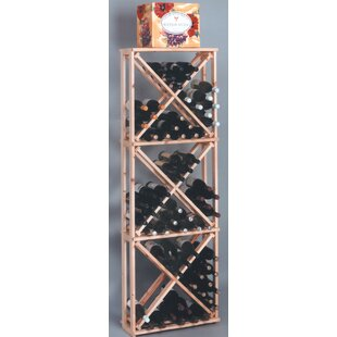 Country Pine Open 132 Bottle Floor Wine Rack