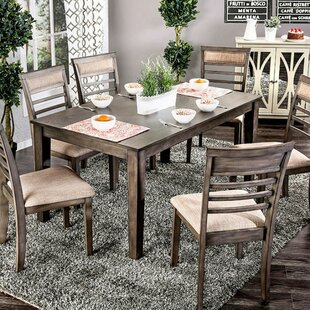 Wicker Park Transitional 7 Piece Dining Set Loon Peak