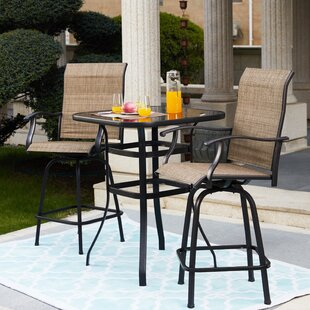 Tadwick Patio 3 Piece Bistro Set