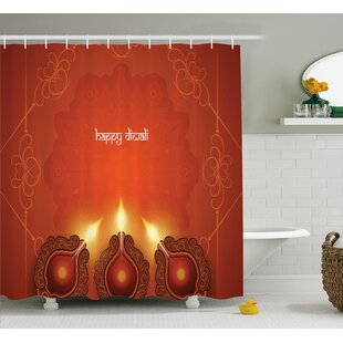 Price comparison Shaffer Diwali Paisley Decor Indian Inspired Backdrop With Wooden Oriental Carving Frames Print Shower Curtain ByWorld Menagerie