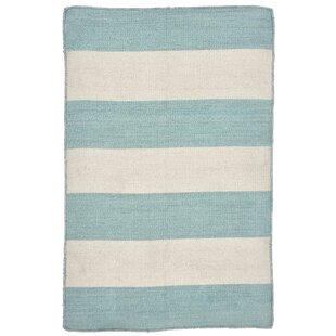 Ranier Stripe Hand-Woven Indoor/Outdoor Area Rug