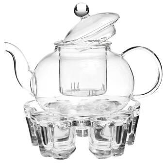 World Menagerie Bartolo 18 Oz Glass Teapot Wayfair